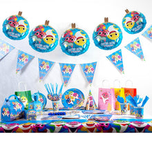 Load image into Gallery viewer, baby shark birthday party supplies, decorations