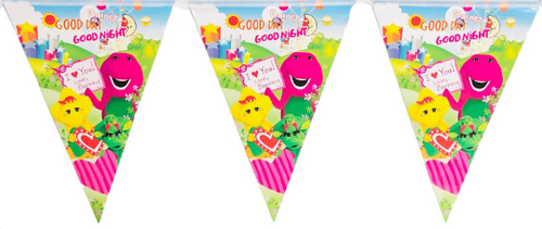Barney Birthday Party Banner, 8ft long