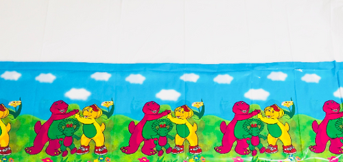 Barney Birthday Party Tablecover, 7ft long