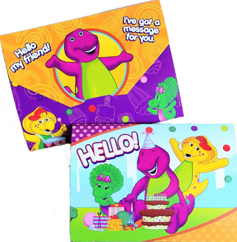 Barney Birthday Party Mini Invitations, 8ct