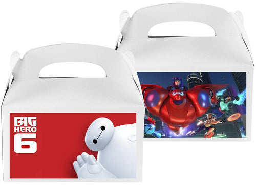Baymax Big Hero Treat Candy Boxes, Party Supplies