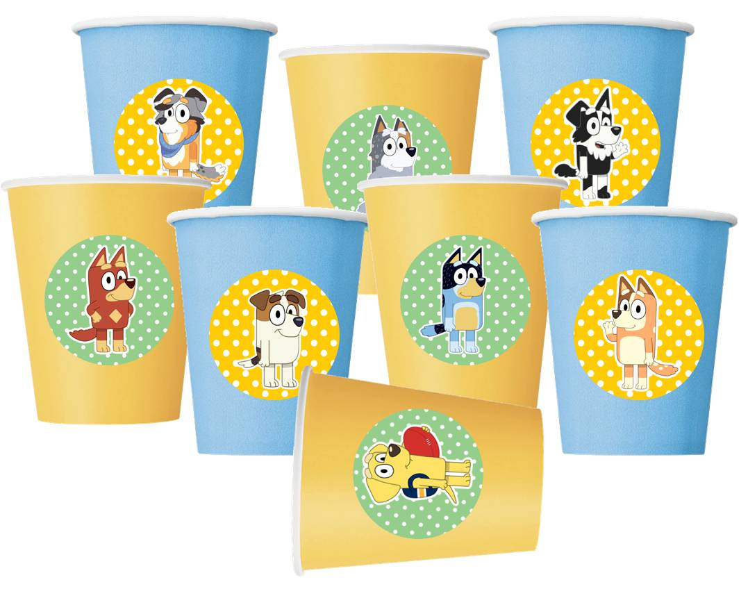 Bluey Party Paper Cups