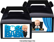 Load image into Gallery viewer, Boss Baby Boy Treat Favor Boxes 8ct