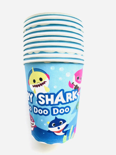 Baby Shark Paper Cups, Party Supplies