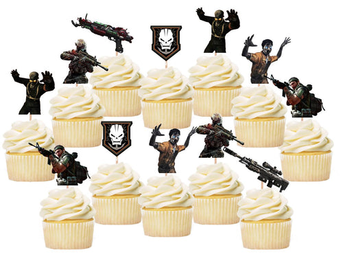 Call of Duty Cupcake Toppers, Handmade