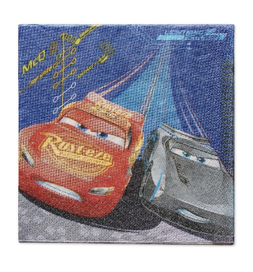 disney pixar cars napkins, cars birthday party supplies