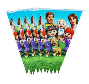 Cocomelon 10ft Birthday Flags Banner
