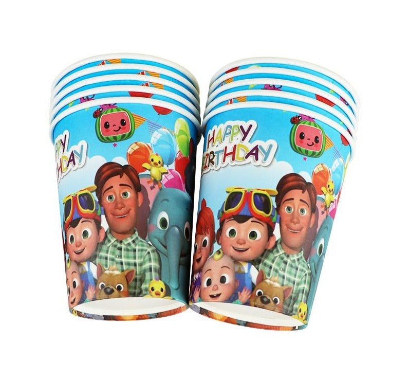 Cocomelon Party Paper Cups