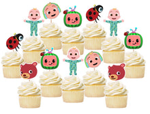 Load image into Gallery viewer, Cocomelon Cupcake Toppers, Handmade