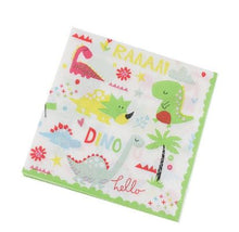 Load image into Gallery viewer, Baby Dino Dinosaur Party Supplies Napkins