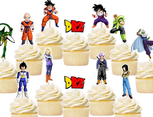 Dragon Ball Z Cupcake Toppers, Dragon Ball Z Cake Decorations