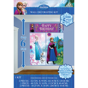 Frozen birthday party supplies backdrop wall decorating kit