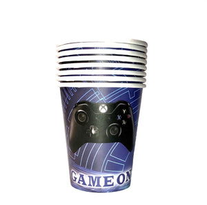 Video game birthday party supplies, video game cups