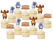 Load image into Gallery viewer, Grizzy and The Lemmings Cupcake Toppers, Handmade
