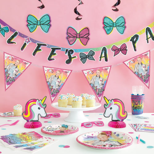 Jojo Siwa Life's A Party Birthday Banner, 6.25ft long