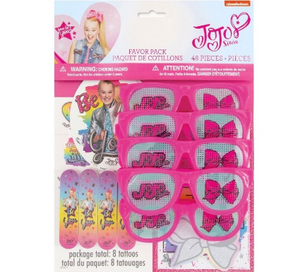 Jojo Siwa 48pc Party Favors, Birthday Party Supplies