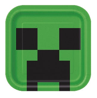 Minecraft Creeper Dinner Plates, Party Supplies