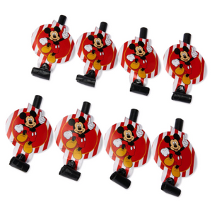 Classic Mickey Mouse Birthday Party Blowouts Favors, 8ct