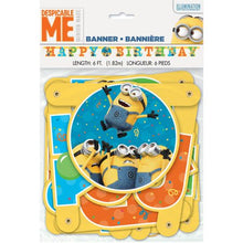 Load image into Gallery viewer, Minions Birthday Banner, Minions Birthday Party Supplies Decorations