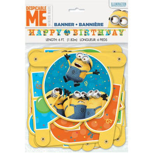 Minions Birthday Banner, Minions Birthday Party Supplies Decorations