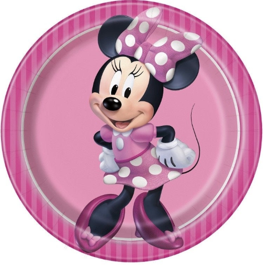 Minnie mouse birthday party supplies, decorations, minnie mouse plates