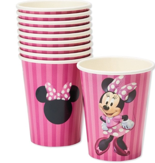 Minnie mouse birthday party supplies, decorations, minnie mouse cups