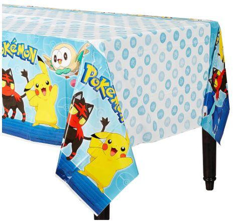 Pokemon Birthday Party Supplies, Pokemon Tablecover Table Cover, Pikachu Party Supplies