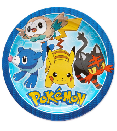 Pokemon Birthday Party Supplies, Pokemon Party Plates