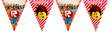 Load image into Gallery viewer, Roblox party supplies banner