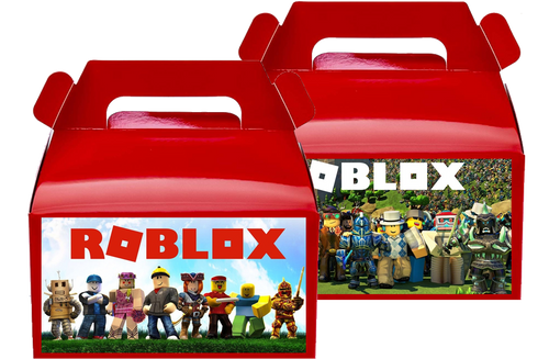 Roblox Treat Favor Boxes, Party Supplies