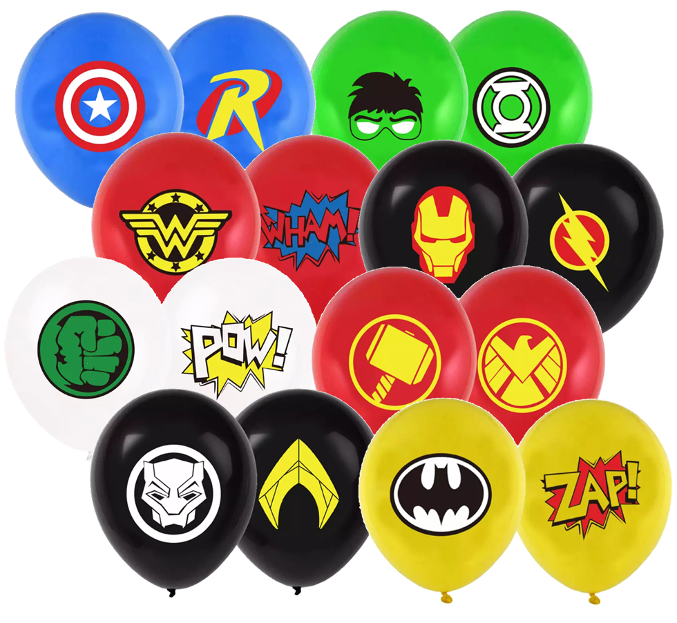 Superhero party balloons supplies