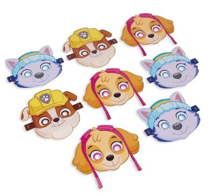 Paw Patrol Skye Favor Paper Masks 8ct, Skye Birthday Party Supplies