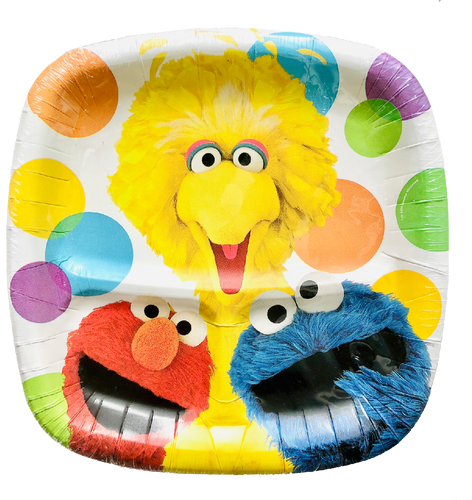 Sesame Street Party Supplies Plates