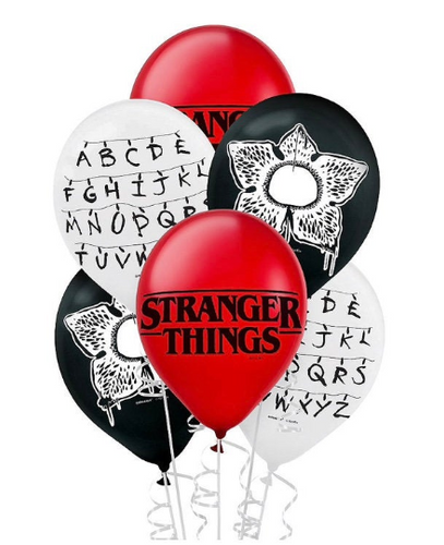 Stranger Things Balloons, 6, 12 or 18ct