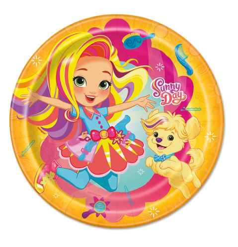 Sunny Day Birthday Plates, Sunny Day Birthday Party Supplies