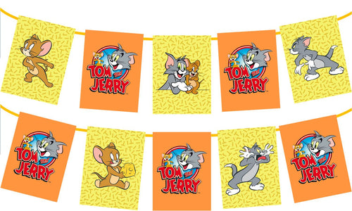 Tom and Jerry Birthday Party Banner