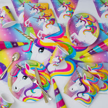 Load image into Gallery viewer, Rainbow Unicorn Flags Banner, 12ft