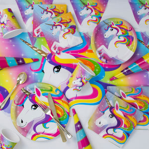 Rainbow Unicorn Flags Banner, 12ft