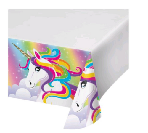Rainbow Unicorn Party Supplies, Tablecover Table cover tablecloth