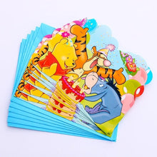 Load image into Gallery viewer, Winnie The Pooh and Friends Birthday Party Supplies, Cups Plates Napkins Invites