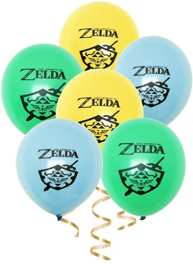 Legend of Zelda Birthday Party Balloons, 6, 12 or 18ct