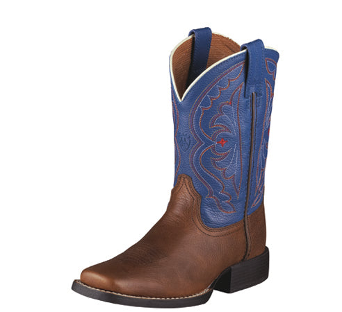 Ariat Kids Quickdraw | Brown Oiled Rowdy / Royal