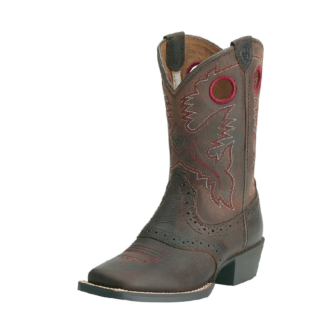 Ariat Childrens Roughstock Square Toe | Brown Oiled Rowdy