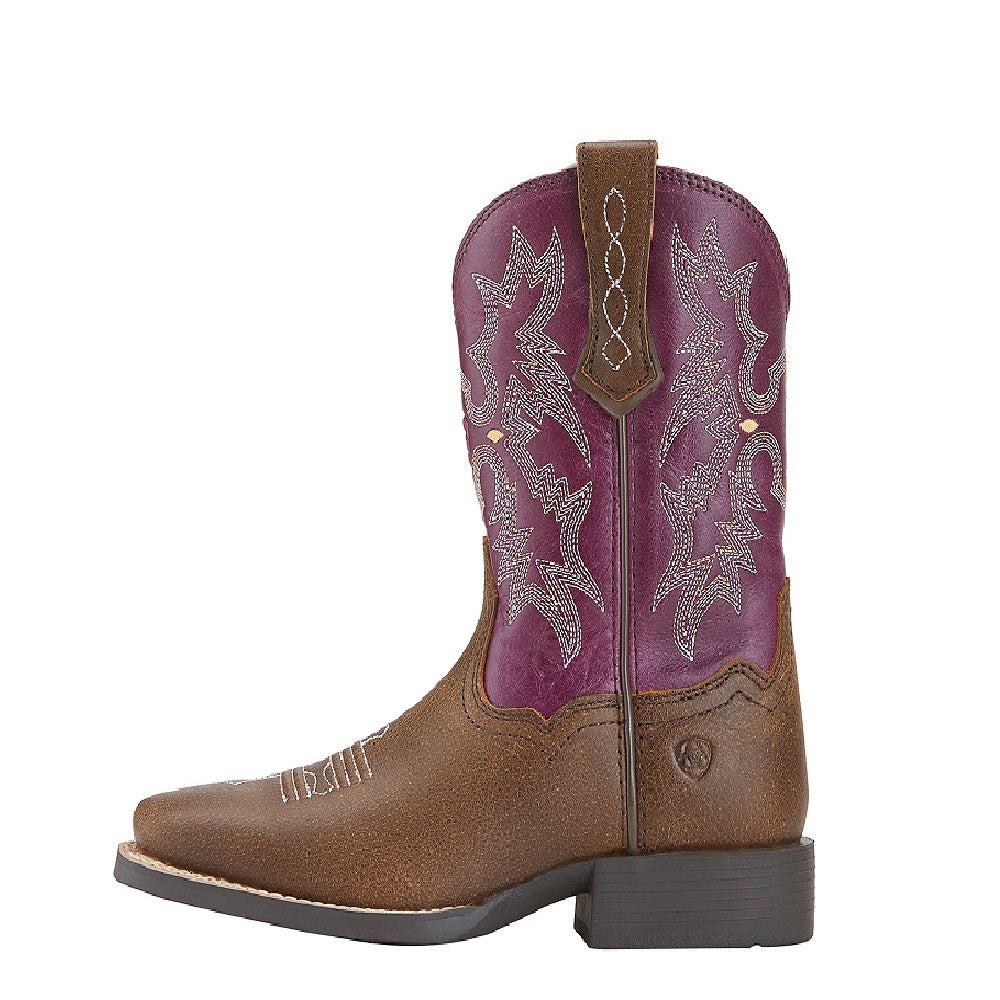 Ariat Childrens Tombstone | Vintage Bomber / Plum