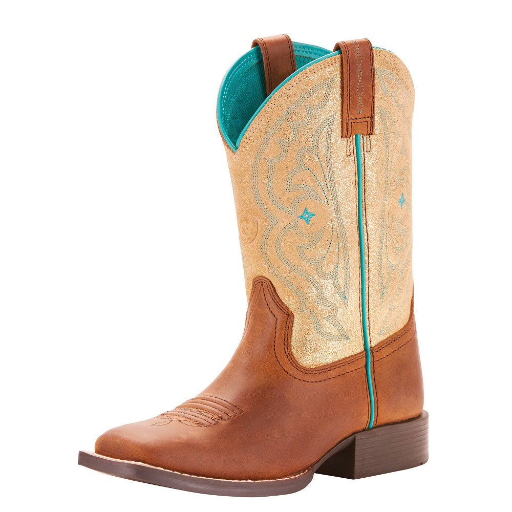 Ariat Childrens Quickdraw | Distressed Brown / Metallic Gold