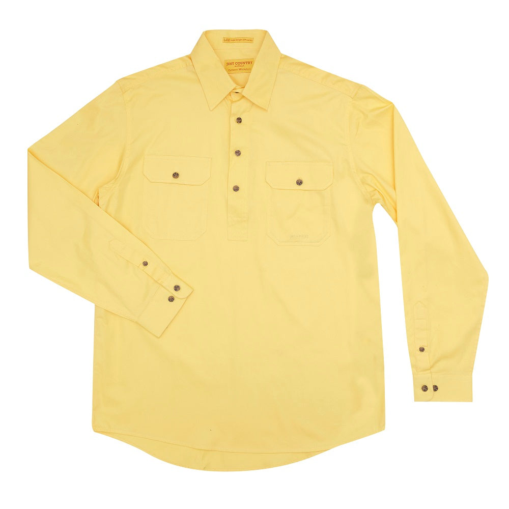 Just Country Mens Cameron Shirt | 1/2 Button | Butter