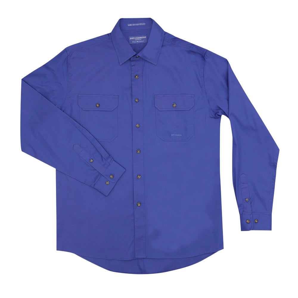 Just Country Mens Evan Shirt | Full Button | Blue