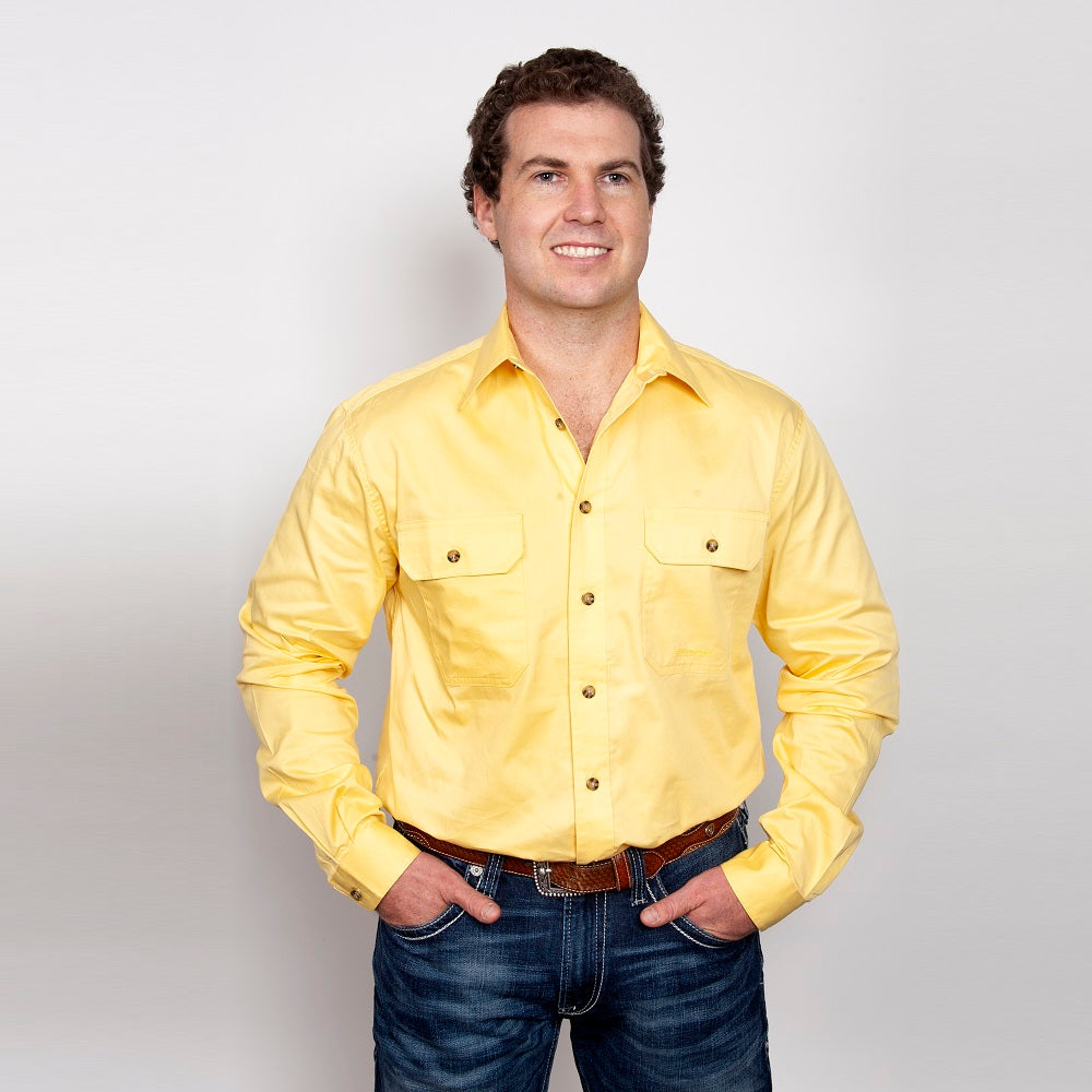 Just Country Mens Evan Shirt | Full Button | Butter