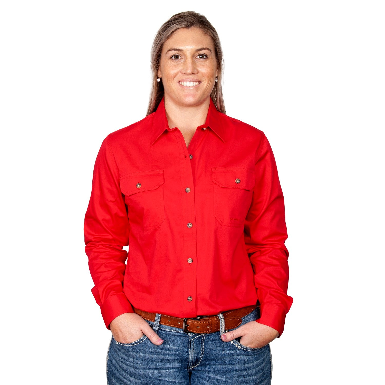 Just Country Womens Brooke Shirt | Full Button | Chilli