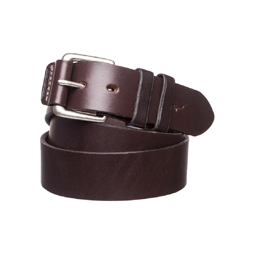 R.M. Williams Covered Buckle Belt | 1.5 inch Wide | Chestnut